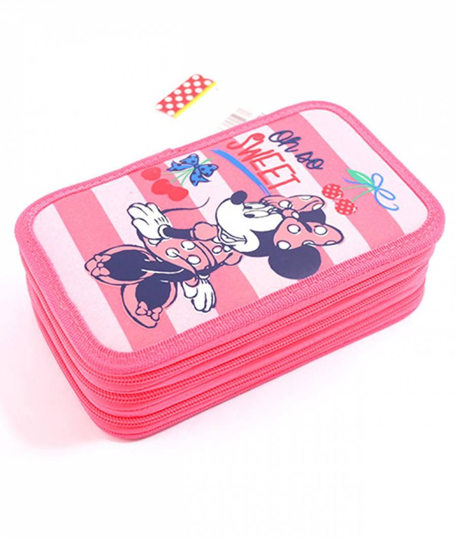 Penar Neechipat 3 fermoare Minnie Roz-Cherry Minnie MNPE1703-1-2.jpg