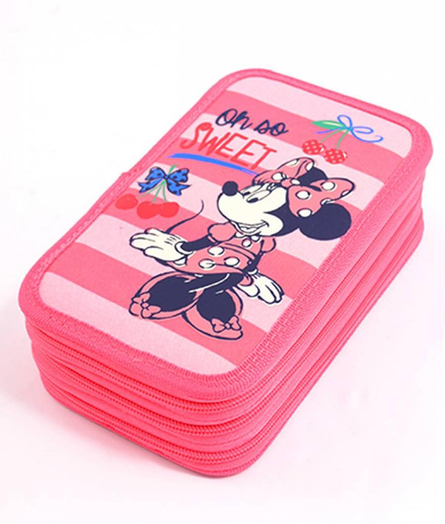 Penar Neechipat 3 fermoare Minnie Roz-Cherry Minnie MNPE1703-1-3.jpg