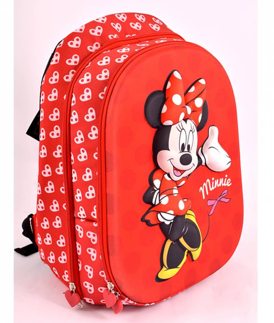 Ghiozdan, clasa 1/4, 3D, 2 fermoare, Minnie Mouse Rosu MNRS1603-1-2.jpg