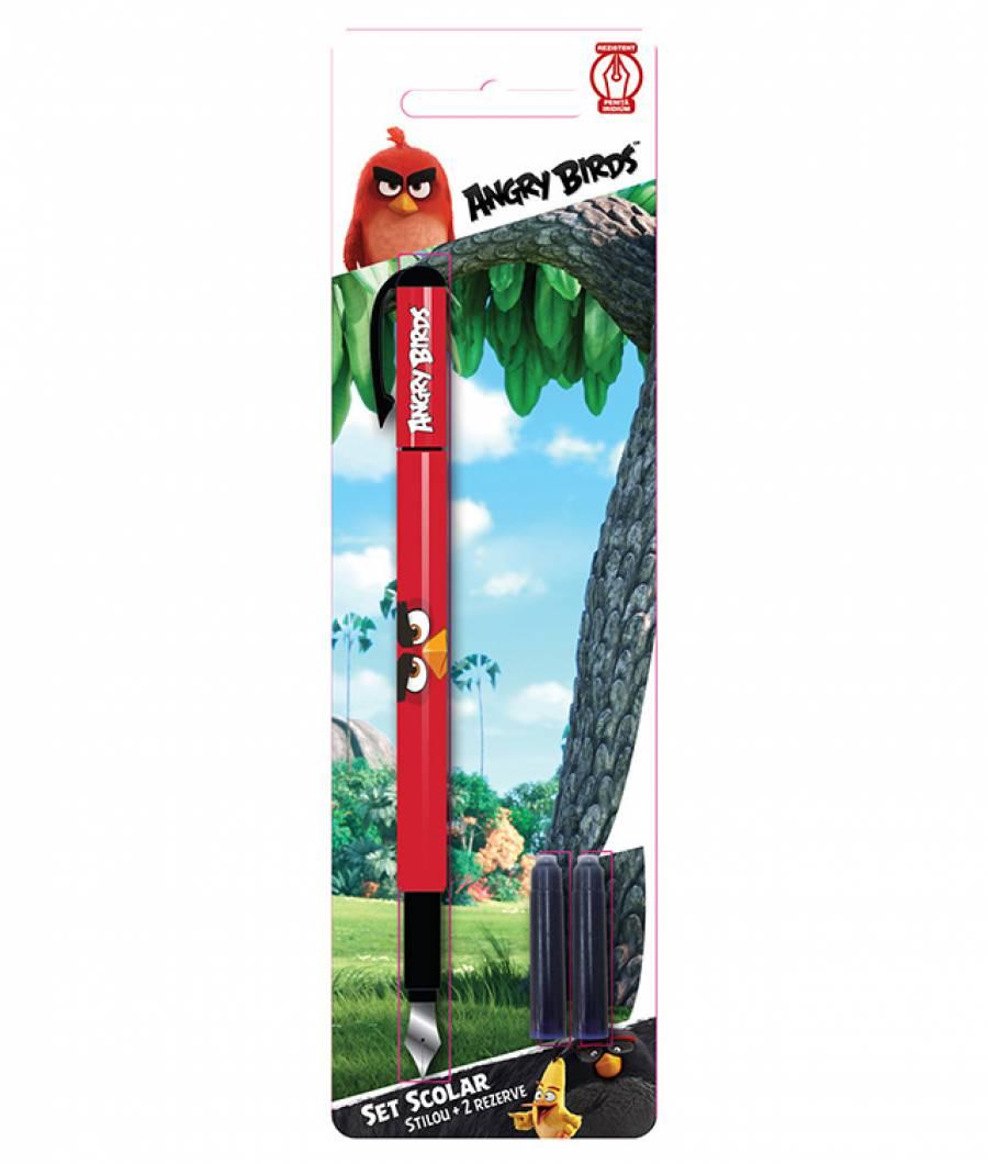 Blister Stilou Iridium, cu 2 rezerve, Angry Birds