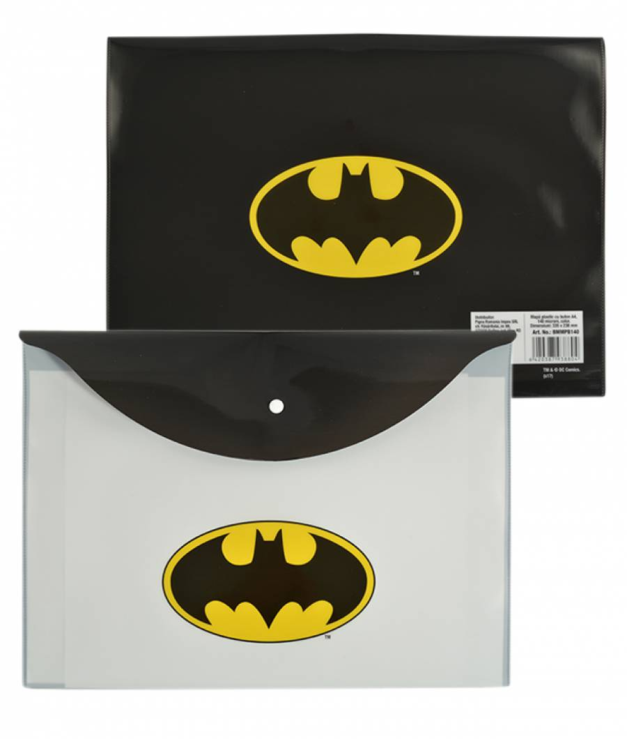 Mapa  plastic  cu buton A4, Batman .