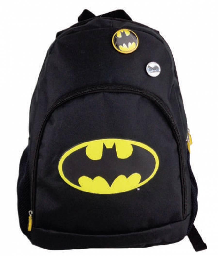 Ghiozdan Gimnaziu Simplu Batman Negru
