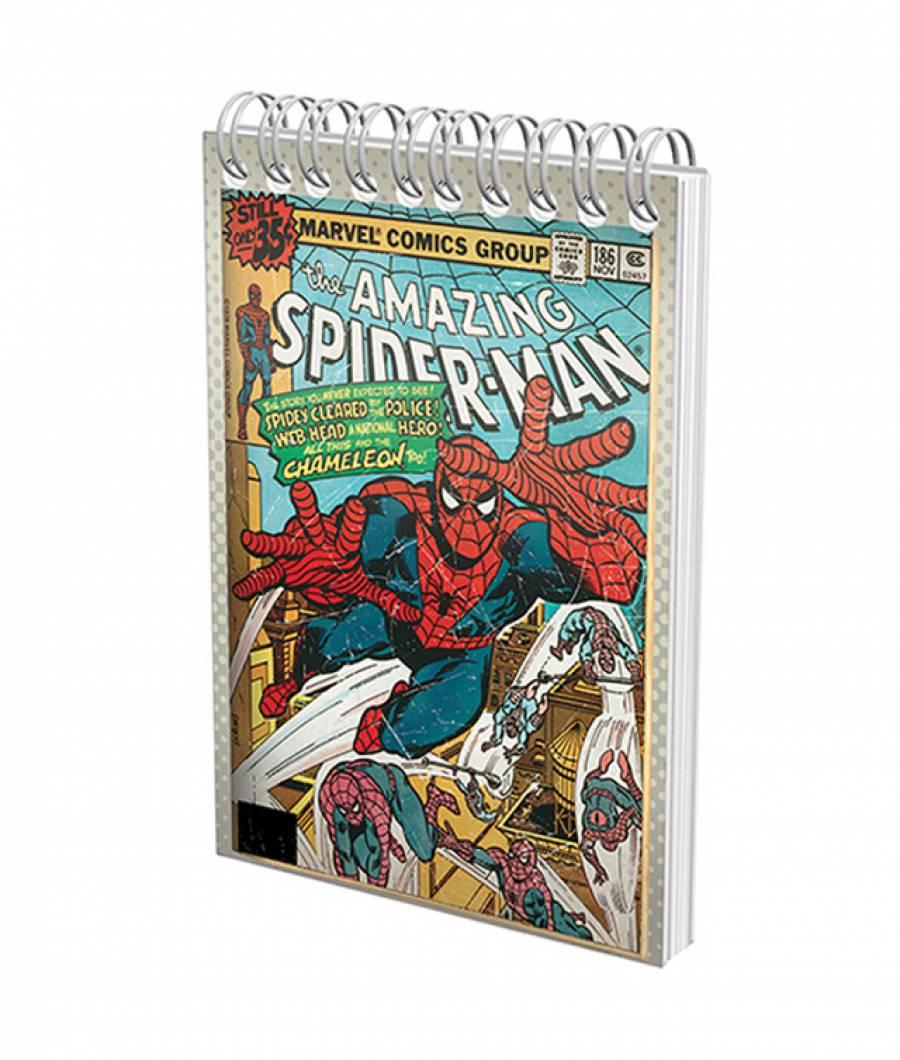 Blocnotes cu spira A6 70file, matematica, 80g/mp Spiderman .