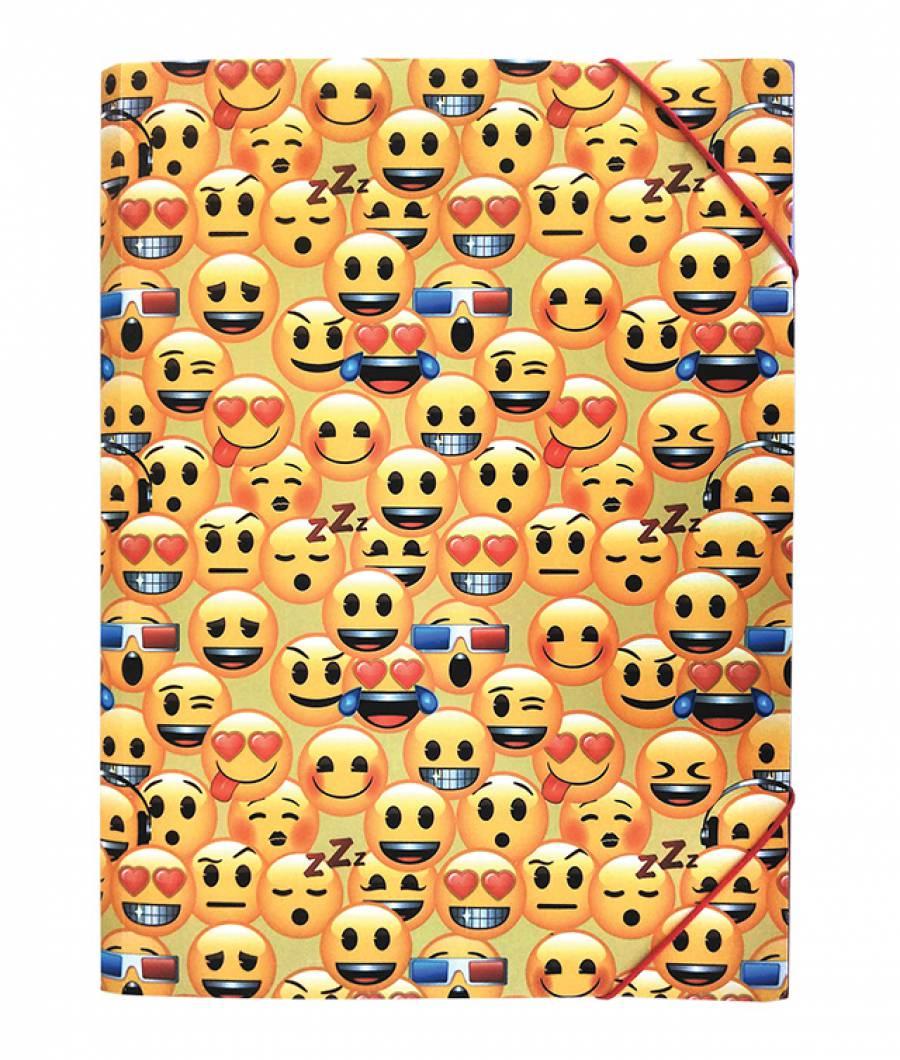 Mapa  plastic  cu elastic A4, Emoji Clasic .