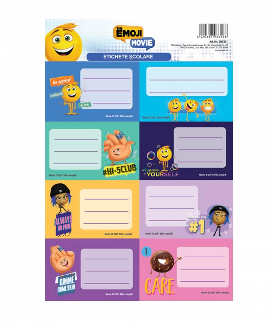 Etichete scolare 40/set Emoji .