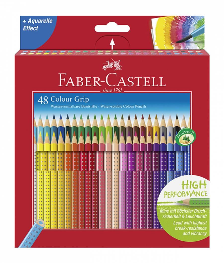 Creioane Colorate 48 Culori Grip 2001 Faber-Castell
