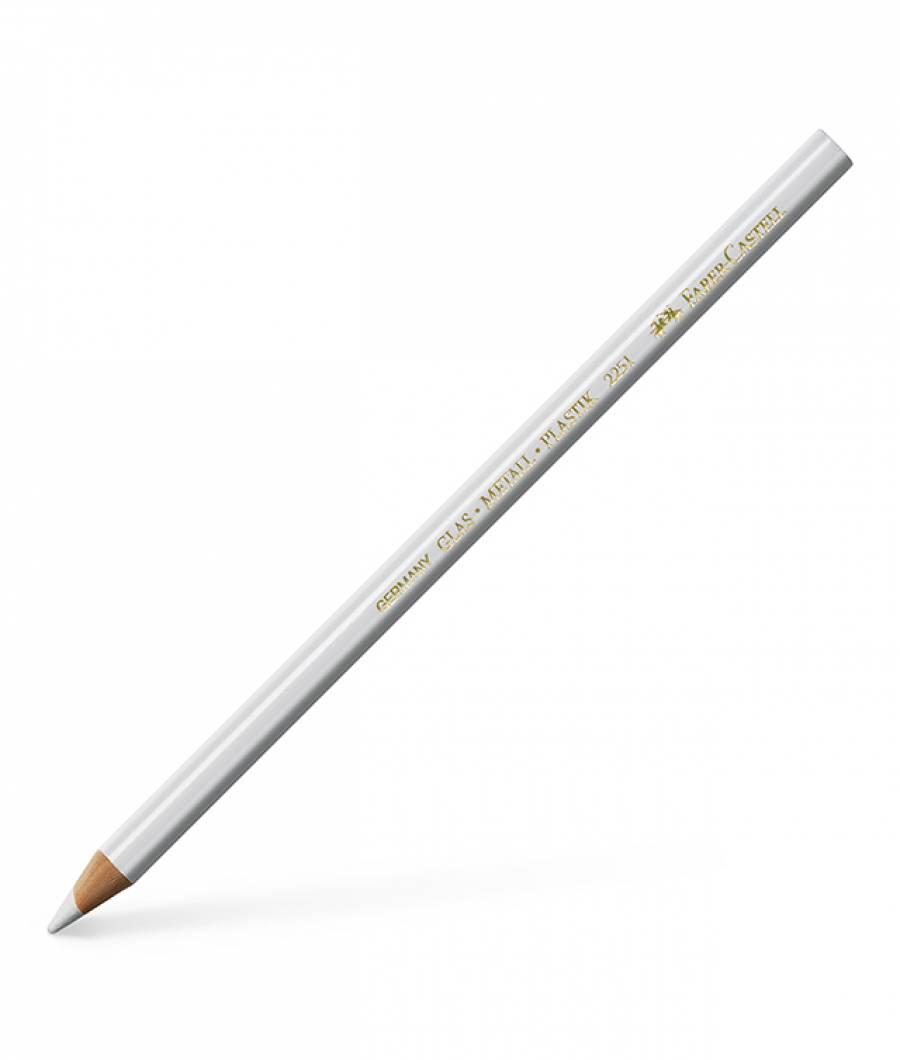 Creion Permanent Pentru Sticla Alb Faber-Castell