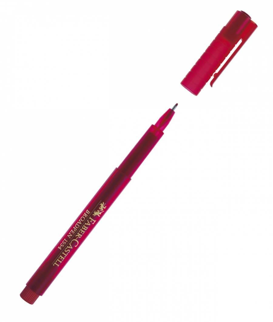 Liner 0.8mm Rosu Broadpen 1544 Faber-Castell