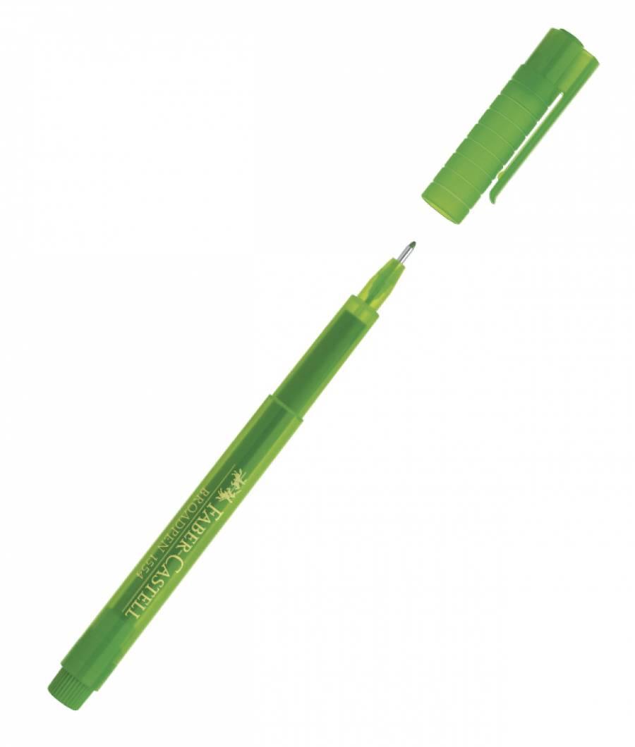 Liner 0.8mm Verde Broadpen 1544 Faber-Castell