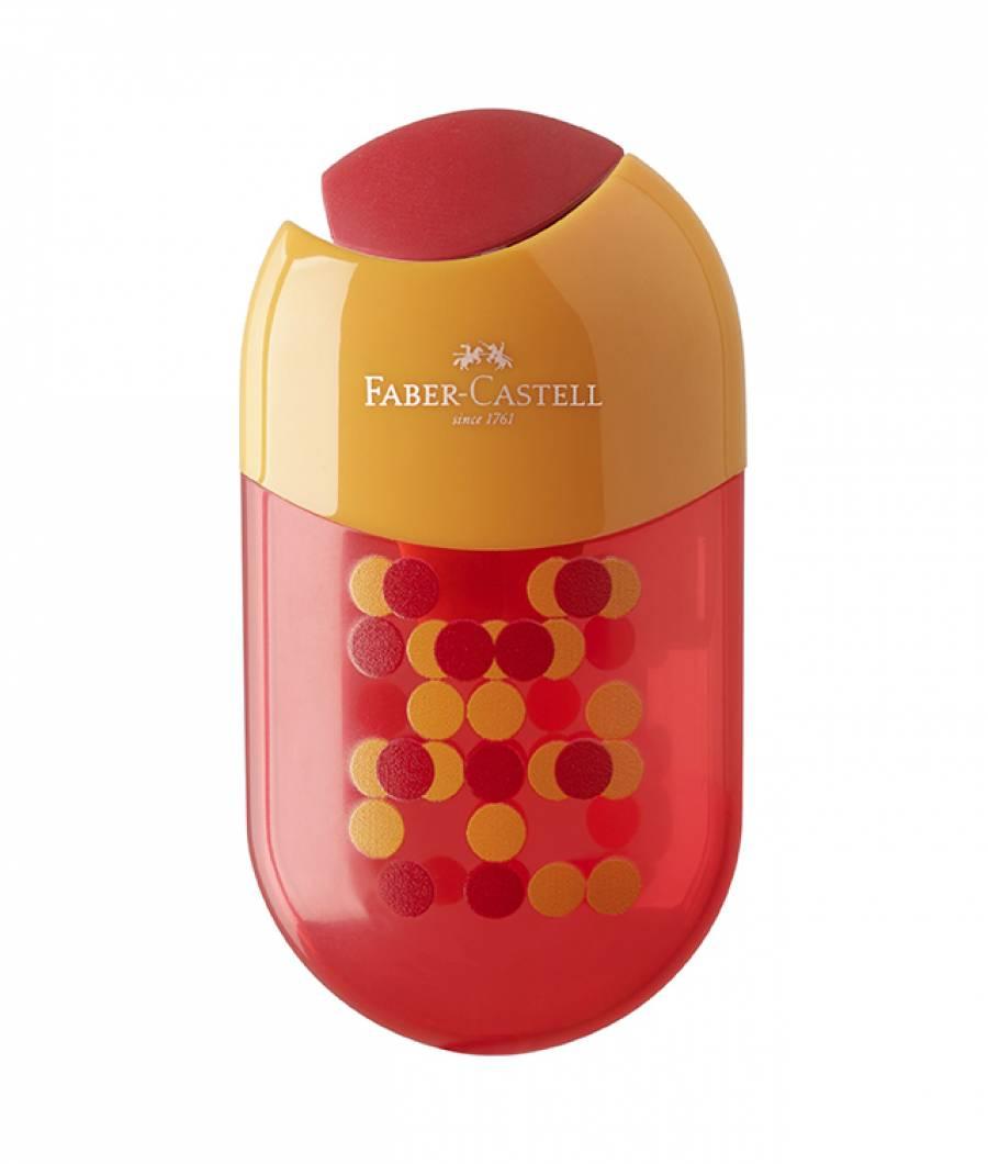 Ascutitoare Cu Radiera Two Tone Culori Asortate Faber-Castell