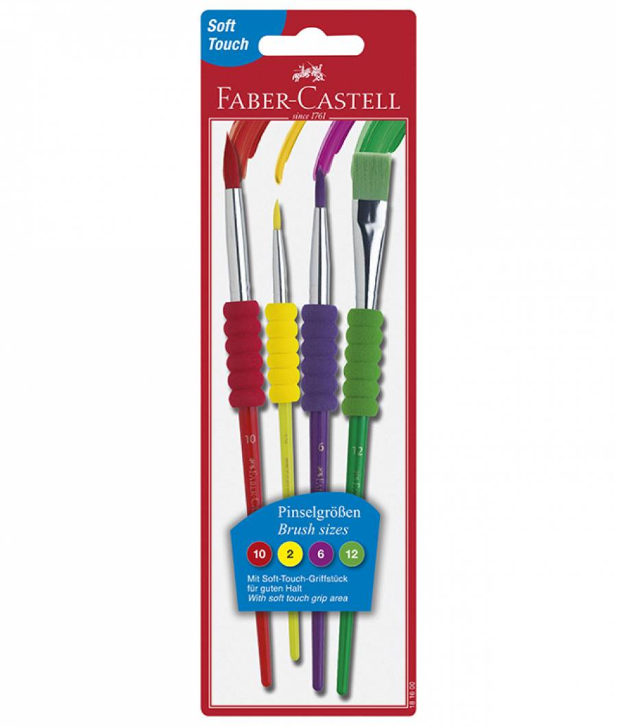 Pensula Soft Touch Set 4 Faber-Castell