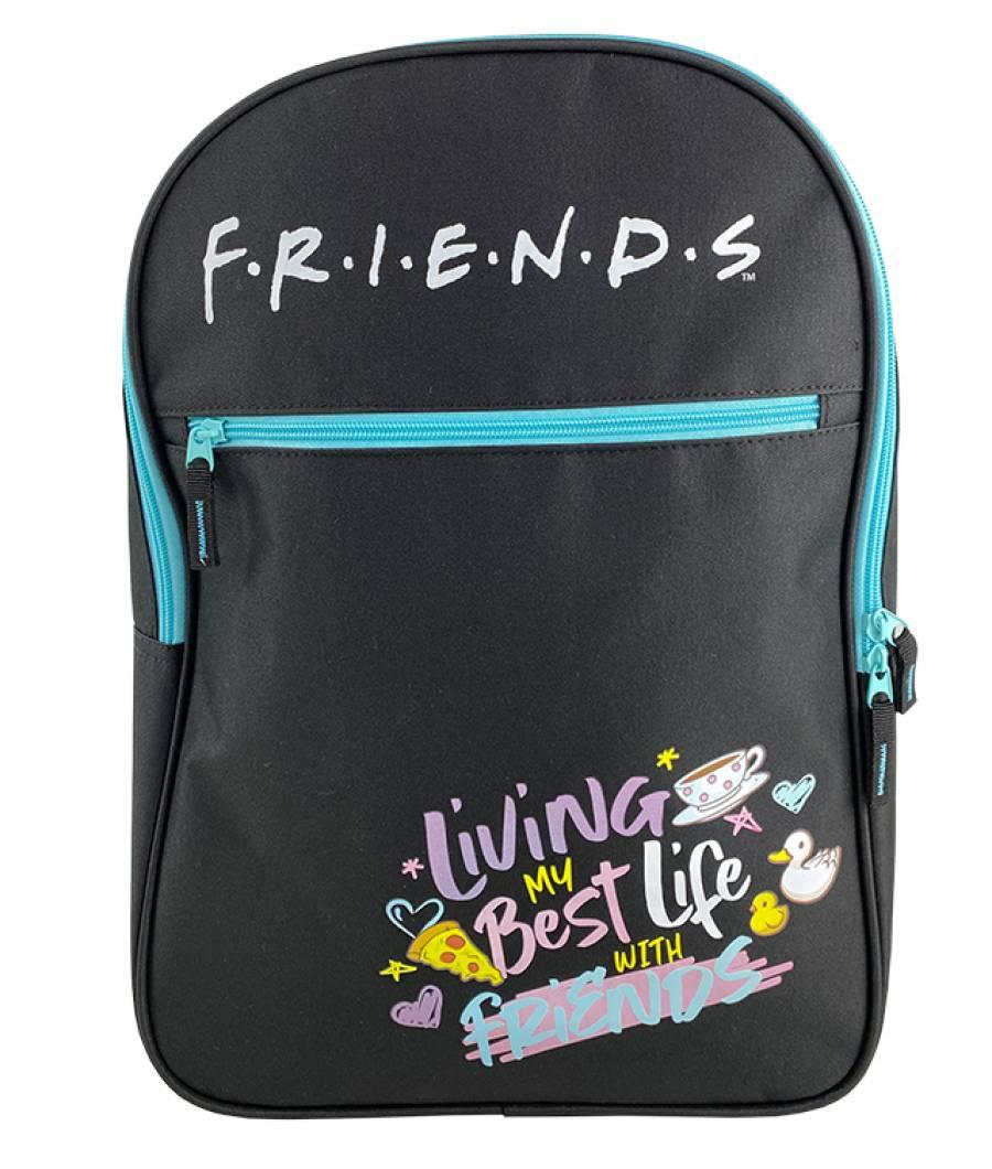 Ghiozdan Friends Teens 2 fermoare negru
