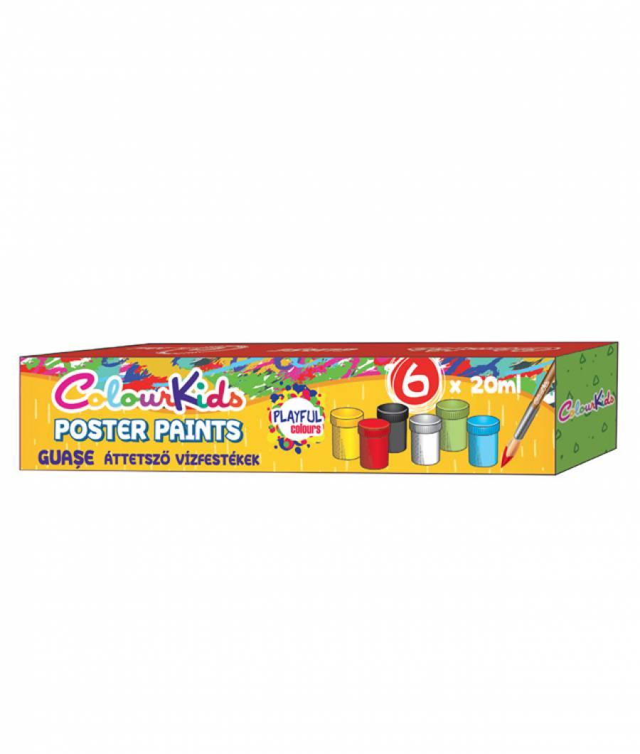 Guase. 06 culori 20ml. Colour KIDS cutie  plastic