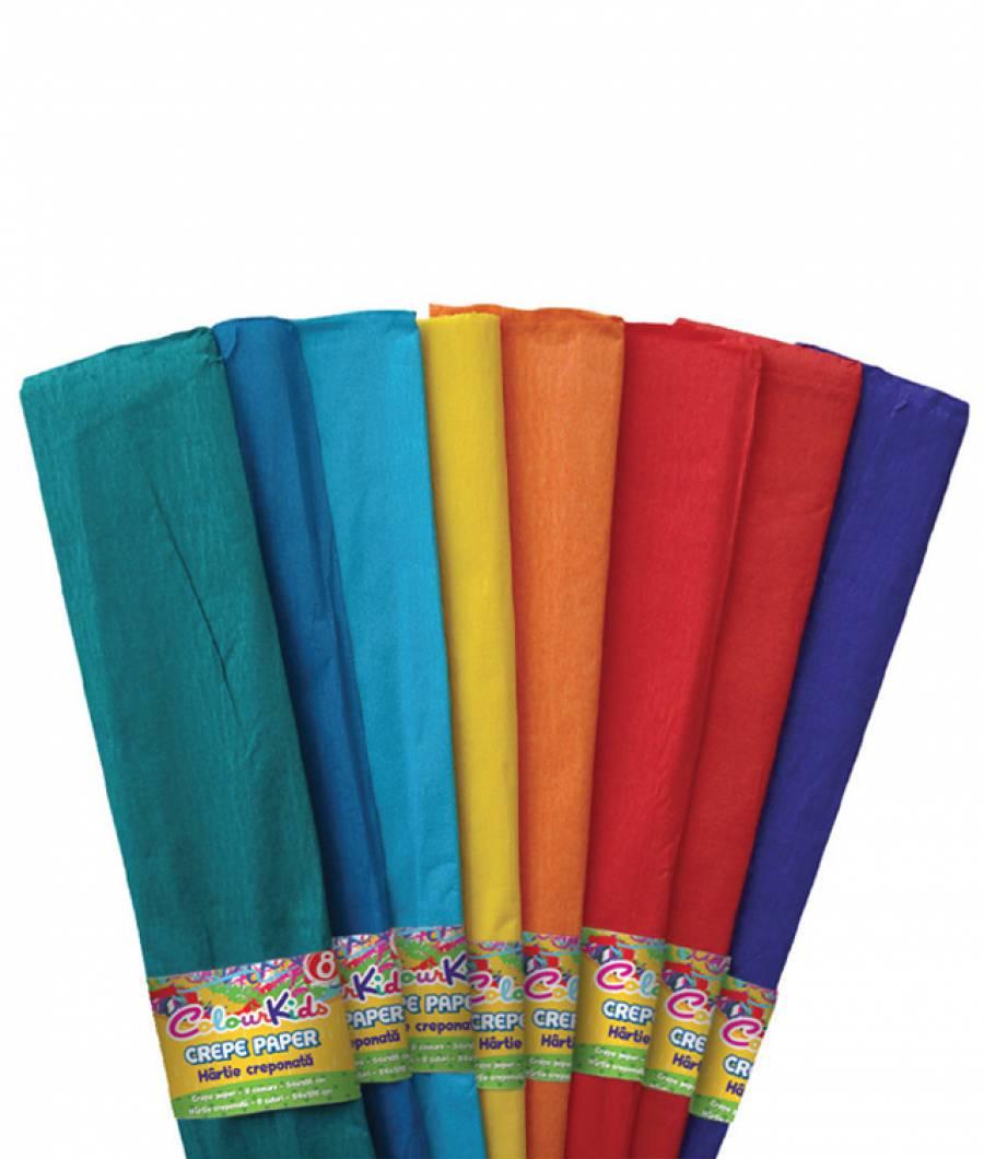Hartie Creponata 10 cul/set 10set/pach Colour KIDS