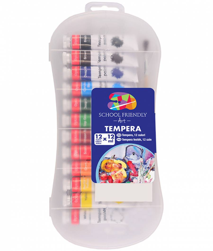 Tempera. 12 culori 12ml SFART