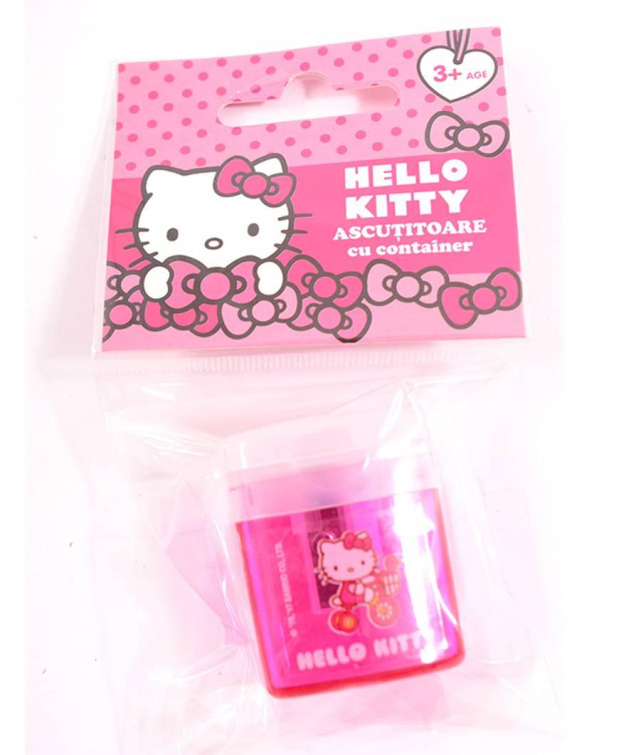 Blister 1 Ascutitoare cu container Hello Kitty