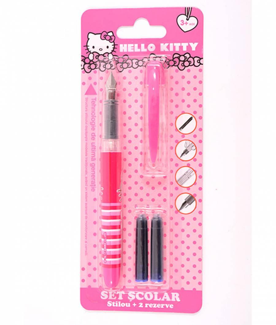 Blister Stilou Basic , cu 2 rezerve, Hello Kitty .