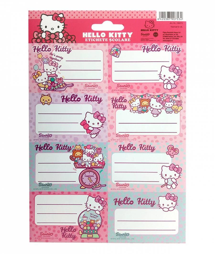 Etichete scolare 40/set Hello Kitty .