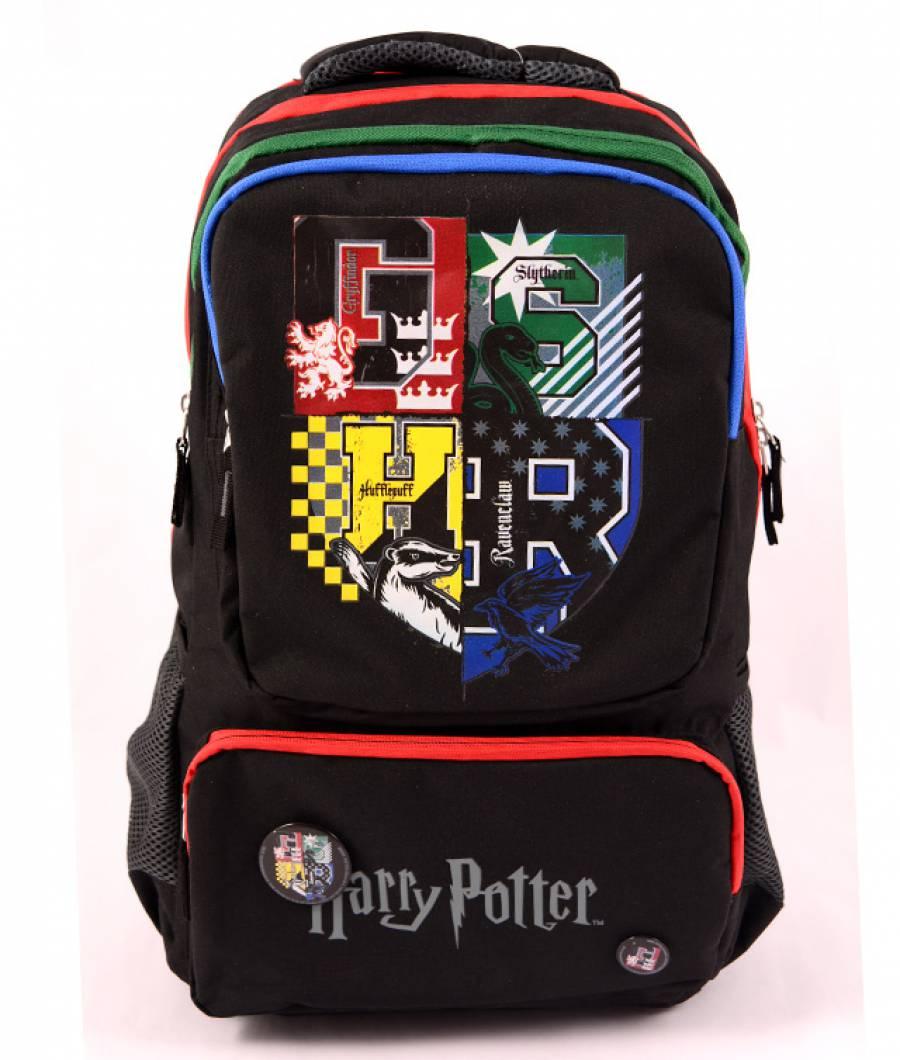 Ghiozdan Teens negru Harry Potter