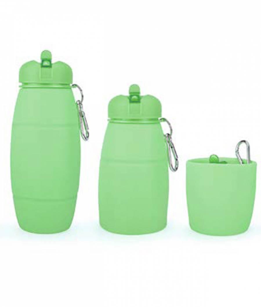 Sticla Apa PREMIUM silicon 600 ml verde