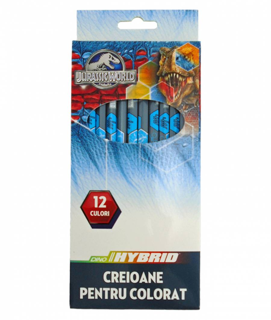 Creioane Color JURASSIC WORLD 12buc
