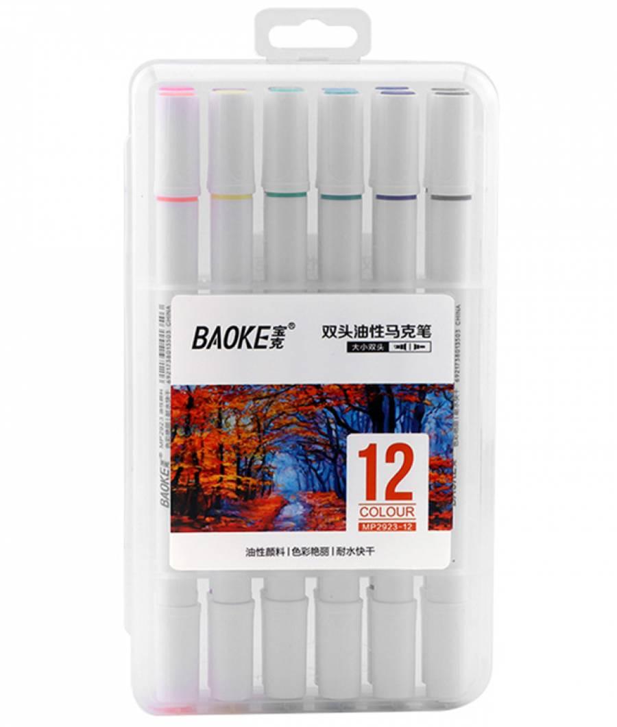 Markere Artisti 2vf 4-1mm ulei 12culori  MIXT