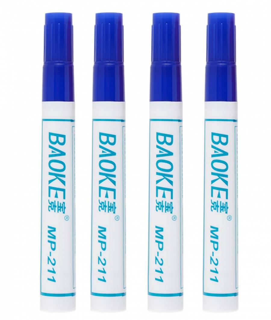 Marker Permanent CLASIC 10buc/set albastru