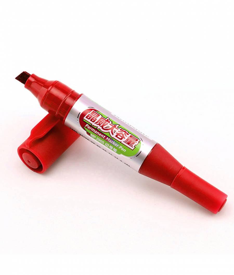Marker Permanent JUMBO 12buc/set 2 capete rosu