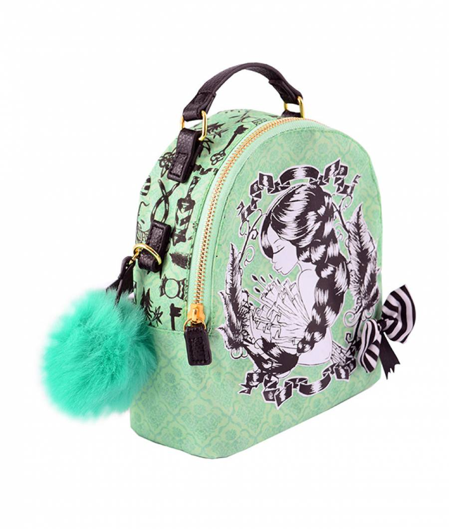 Ghiozdan tip rucsac mic Lilly and Locks verde