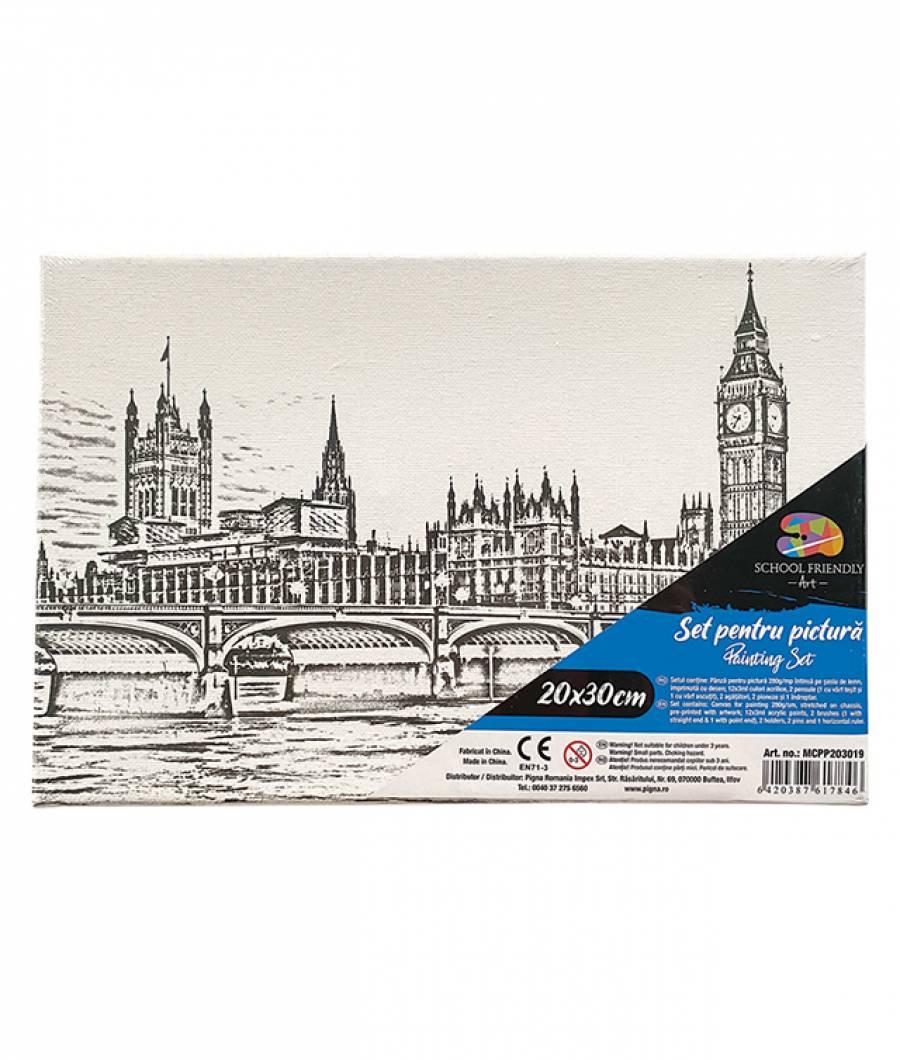 Panza SF ART pre printata  sasiu lemn 1.6x2.5cm 20x30cm London