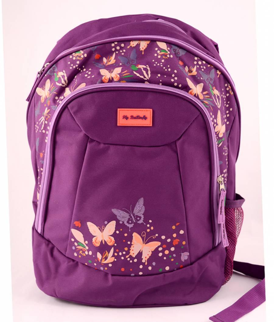 Ghiozdan, clasa 1/4, FlyButterfly Violet