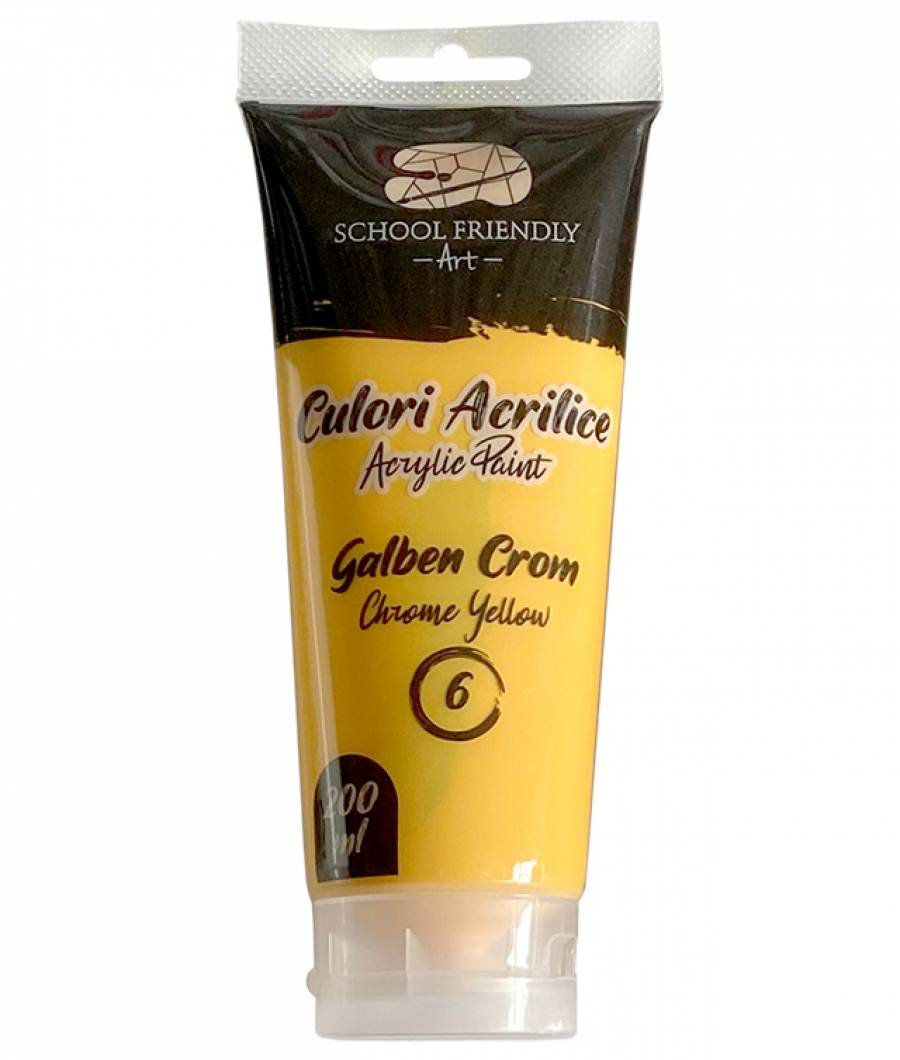 Culori acrilice Premium SF ART 200 ml. Galben Crom