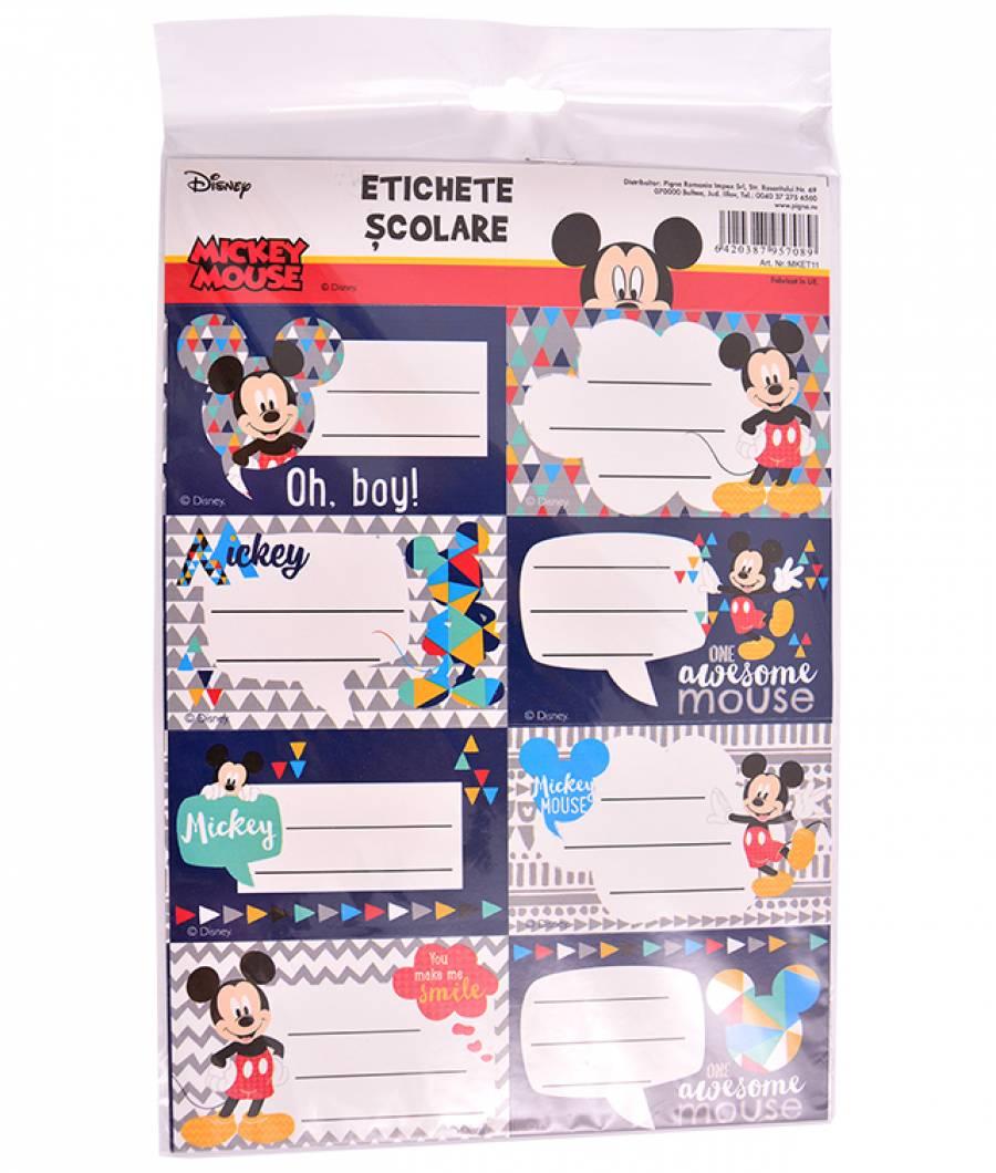 Etichete scolare 40/set Mickey .
