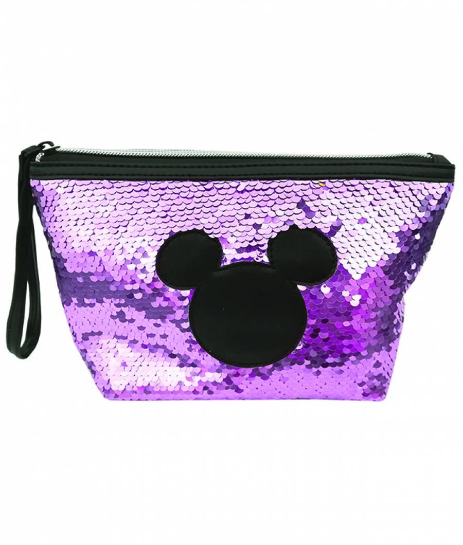 Penar etui 14x21cm Mickey paiete violet