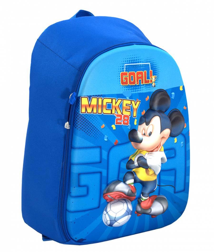Ghiozdan, clasa 1/4, 3D, 1 fermoar, Mickey Mouse