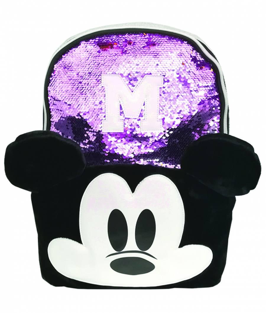 Ghiozdan 43Hx30x12cm Mickey paiete violet
