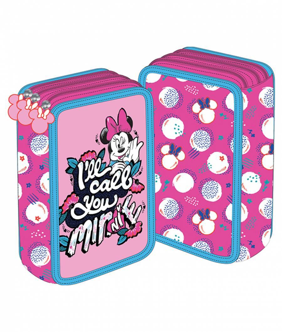 Penar 3 fermoare roz Minnie Mouse