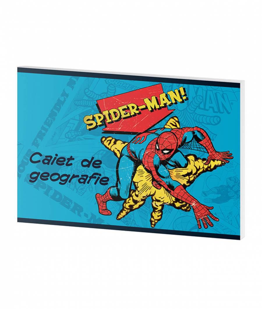 Caiet Geografie 24file Spider-man .