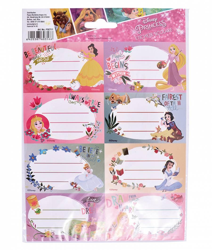 Etichete scolare 40/set Princess R