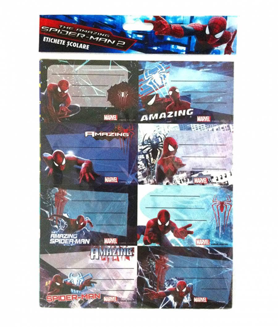 Etichete scolare 40/set Spiderman .