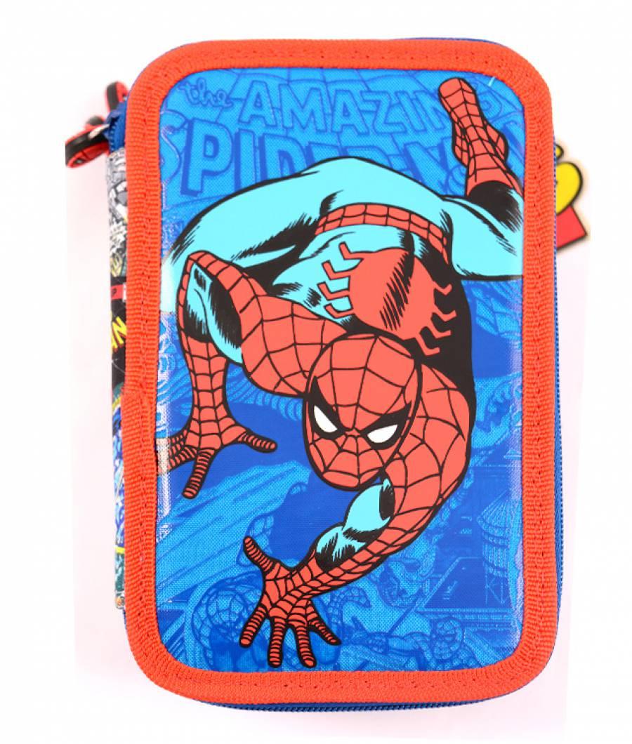 Penar Neechipat 3 fermoare albastru Spider-Man Comic