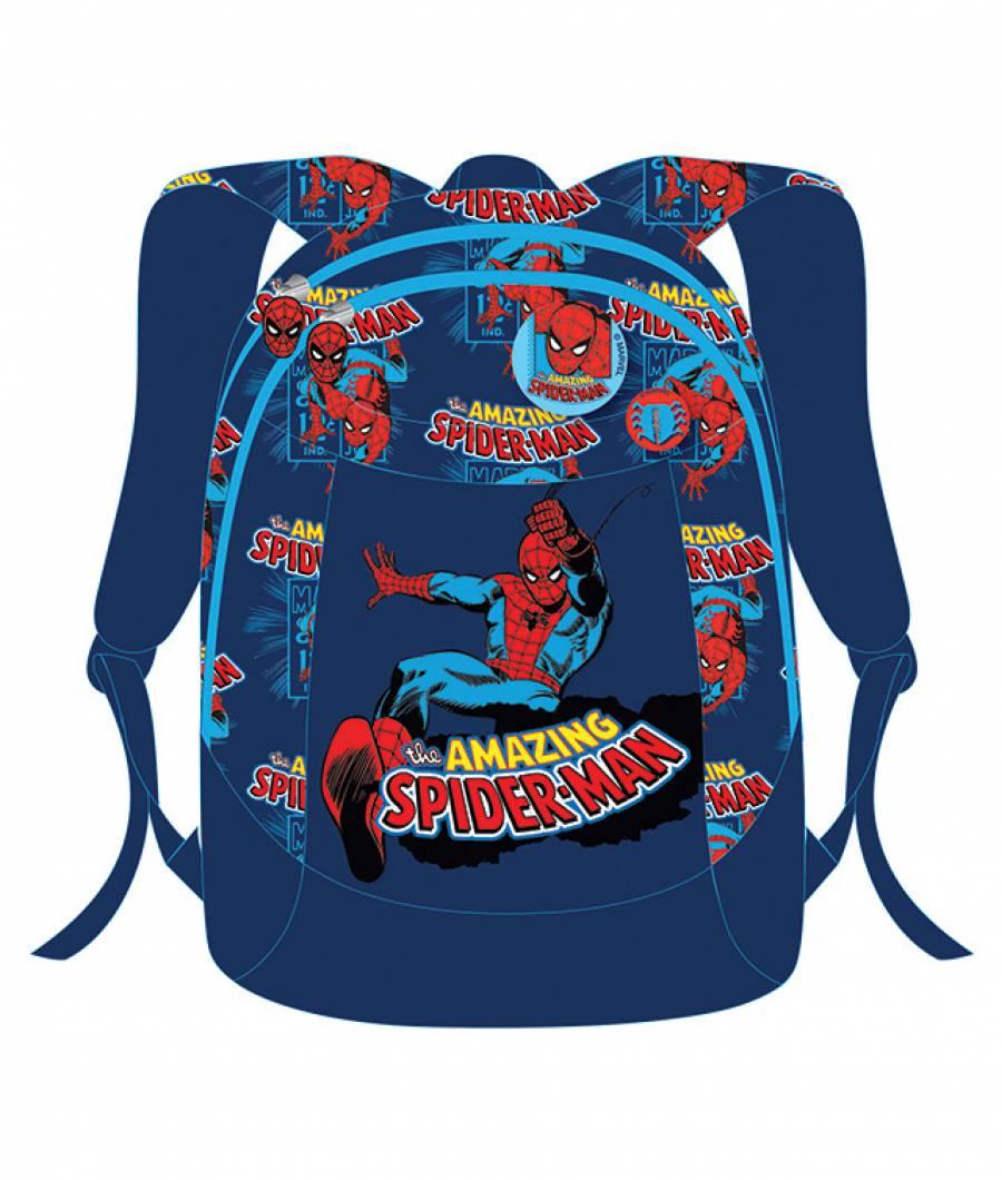 Ghiozdan, clasa 0, Spiderman Albastru
