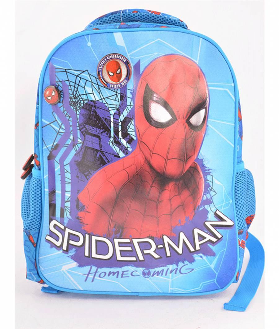 Ghiozdan Gradinita Spiderman Albastru Deschis Spider-man