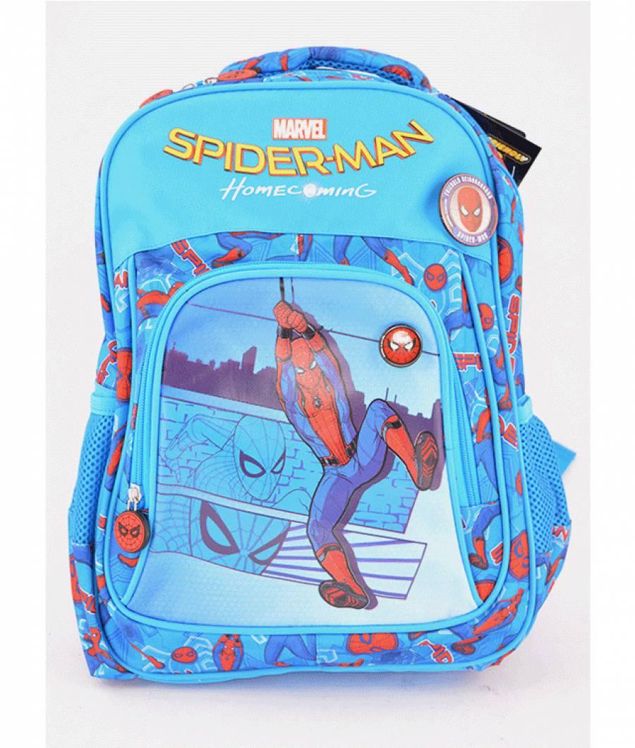 Ghiozdan, clasa 0, Spiderman Albastru Deschis