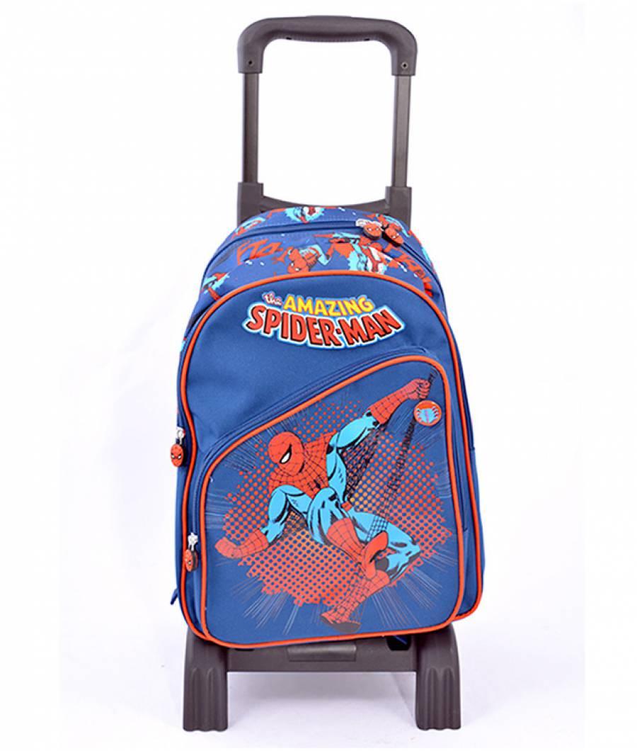 Ghiozdan Troller, clasa 1/4, Spiderman Albastru Inchis T.A.Spider