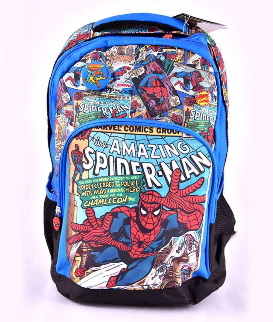 Ghiozdan clasa 1/4, albastru multicolor Spider-Man