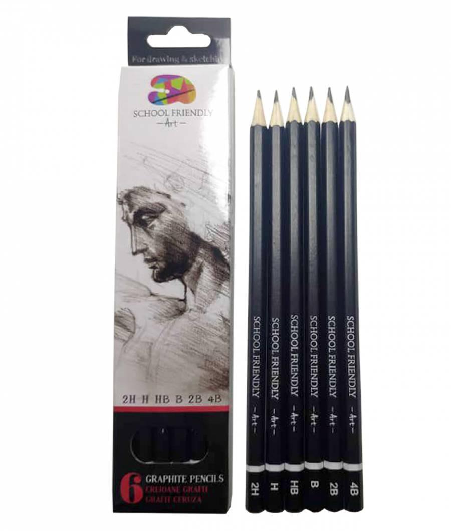 Creioane. Artist SFART 2H H HB B 2B 4B SFART